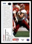 1991 Upper Deck #102  Jim Lachey  Back Thumbnail