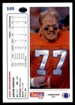 1991 Upper Deck #105  Karl Mecklenburg  Back Thumbnail