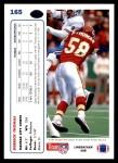 1991 Upper Deck #165  Derrick Thomas  Back Thumbnail