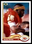 1991 Upper Deck #165  Derrick Thomas  Front Thumbnail
