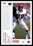 1991 Upper Deck #209  Anthony Munoz  Back Thumbnail