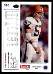 1991 Upper Deck #310  Clay Matthews  Back Thumbnail