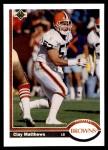 1991 Upper Deck #310  Clay Matthews  Front Thumbnail
