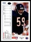 1991 Upper Deck #432  Ron Rivera  Back Thumbnail