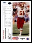 1991 Upper Deck #440  Monte Coleman  Back Thumbnail