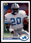 1991 Upper Deck #444  Barry Sanders  Front Thumbnail