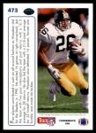 1991 Upper Deck #473  Rod Woodson  Back Thumbnail