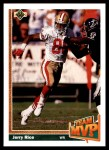 1991 Upper Deck #475  Jerry Rice  Front Thumbnail