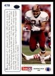 1991 Upper Deck #478   -  Earnest Byner Team MVP Back Thumbnail
