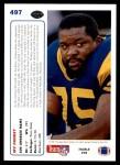 1991 Upper Deck #497  Irv Pankey  Back Thumbnail