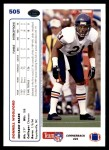 1991 Upper Deck #505  Donnell Woolford  Back Thumbnail