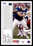 1991 Upper Deck #510  Will Wolford  Back Thumbnail