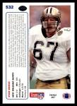 1991 Upper Deck #532  Stan Brock  Back Thumbnail