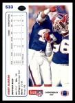 1991 Upper Deck #533  Kirby Jackson  Back Thumbnail