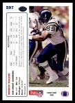 1991 Upper Deck #597  Derrick Walker  Back Thumbnail