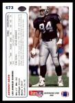 1991 Upper Deck #673  Anthony Smith  Back Thumbnail