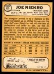 1968 Topps #475  Joe Niekro  Back Thumbnail