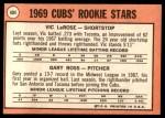 1969 Topps #404   -  Gary Ross / Vic LaRose Cubs Rookies Back Thumbnail