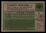 1984 Topps #71  Sammy Winder  Back Thumbnail