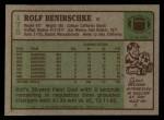 1984 Topps #175  Rolf Benirschke  Back Thumbnail