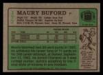 1984 Topps #177  Maury Buford  Back Thumbnail