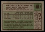 1984 Topps #305  George Rogers  Back Thumbnail