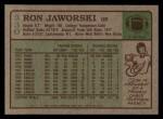 1984 Topps #330  Ron Jaworski  Back Thumbnail