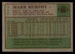 1984 Topps #386  Mark Murphy  Back Thumbnail