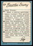 1964 Topps Beatles Diary #57 A Ringo Starr  Back Thumbnail