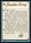 1964 Topps Beatles Diary #38 A Ringo Starr  Back Thumbnail