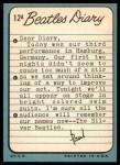 1964 Topps Beatles Diary #12 A Paul McCartney  Back Thumbnail