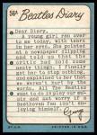 1964 Topps Beatles Diary #56 A George Harrison  Back Thumbnail