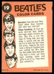 1964 Topps Beatles Color #19   John interview Back Thumbnail