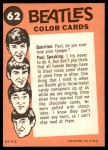 1964 Topps Beatles Color #62   The Beatles Arrive Back Thumbnail