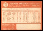 1964 Topps #63  John Orsino  Back Thumbnail