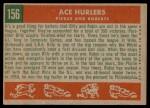 1959 Topps #156   -  Robin Roberts / Billy Pierce Ace Hurlers Back Thumbnail