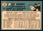 1965 Topps #359  Ken Johnson  Back Thumbnail