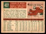 1959 Topps #427  Charlie Neal  Back Thumbnail