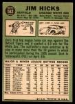 1967 Topps #532  Jim Hicks  Back Thumbnail