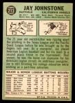 1967 Topps #213  Jay Johnstone  Back Thumbnail