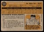 1960 Topps #180  Harry Simpson  Back Thumbnail