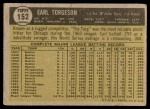 1961 Topps #152  Earl Torgeson  Back Thumbnail