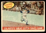1959 Topps #462   -  Rocky Colavito Great Catch Saves Game Front Thumbnail