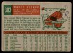 1959 Topps #303  Marty Keough  Back Thumbnail