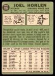 1967 Topps #107  Joel Horlen  Back Thumbnail
