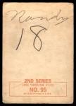 1964 Topps Beatles Black and White #95  Ringo Starr  Back Thumbnail