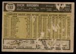 1961 Topps #192  Dick Brown  Back Thumbnail
