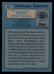 1988 Topps #47  Michael Carter  Back Thumbnail