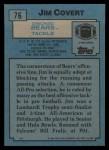 1988 Topps #76  Jim Covert  Back Thumbnail