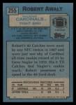 1988 Topps #255  Robert Awalt  Back Thumbnail